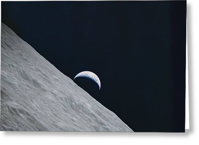 Photograph Of The Earth Taken By Apollo Greeting Card