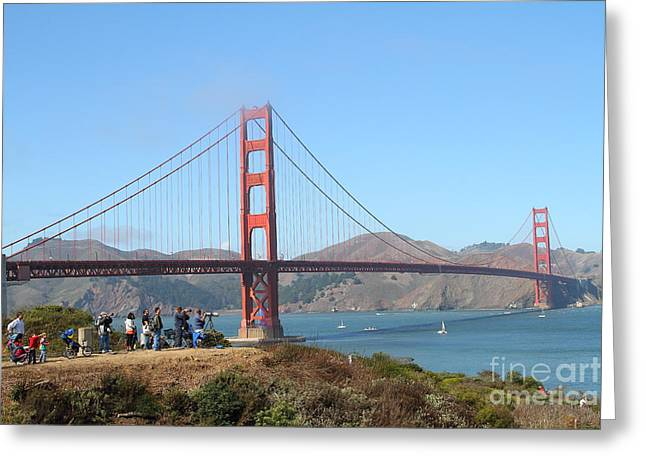 Photographing The San Francisco Golden Gate Bridge . 7d7787 Greeting Card by Wingsdomain Art and Photography