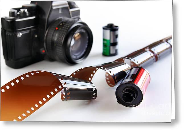 Photography Gear Greeting Card by Carlos Caetano