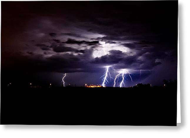 Phx Night Lightning 6 Greeting Card by Kenny Jalet