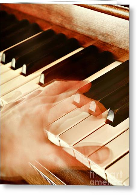 Piano Greeting Card by HD Connelly
