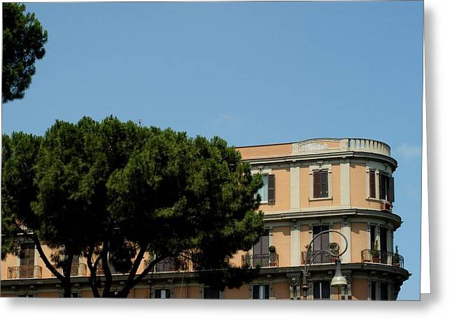 Piazza Cavour Greeting Card