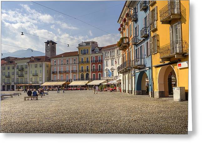 Piazza Grande - Locarno Greeting Card by Joana Kruse