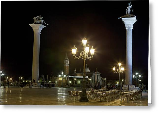 Piazzetta San Marco - Venice Greeting Card by Joana Kruse