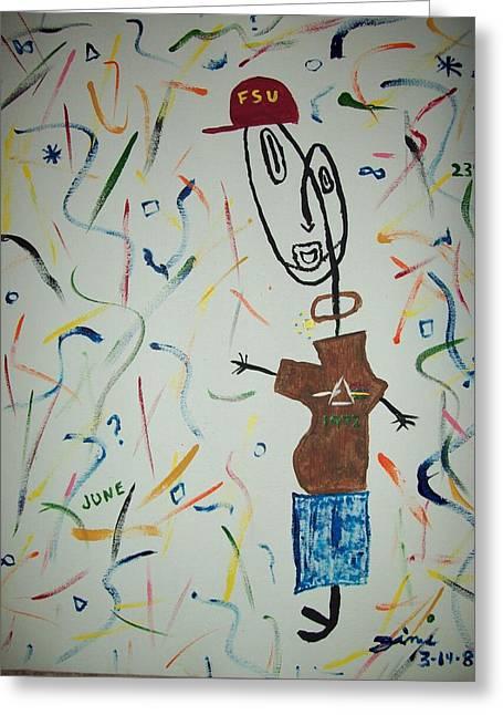Picasso Jimi Greeting Card by Jimi Bush