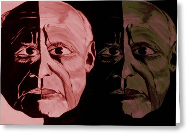 Picasso Legend Greeting Card by Mark Moore
