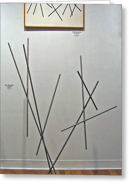 Pick Up Sticks And Thunderbird Greeting Card by John Neumann