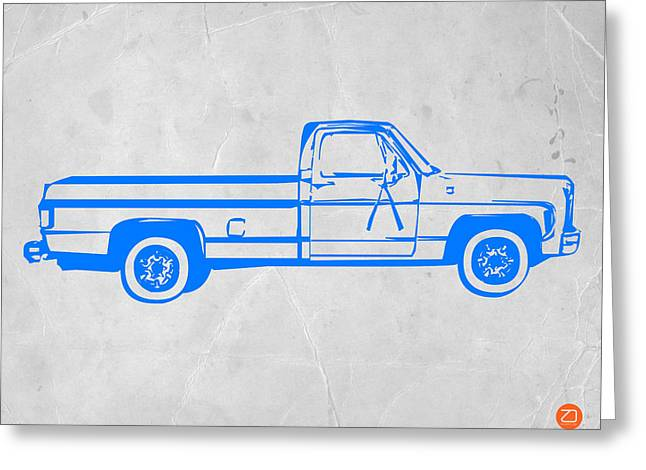 Pick Up Truck Greeting Card by Naxart Studio