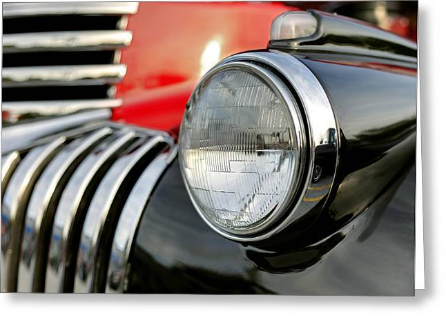 Pickup Chevrolet Headlight. Miami Greeting Card