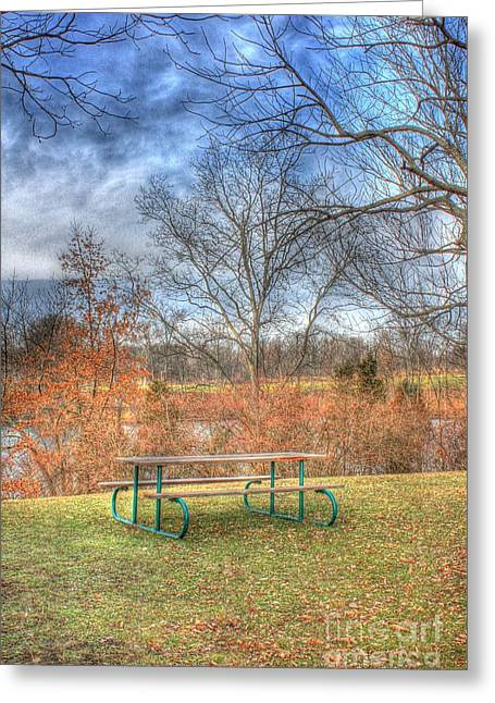 Picnic Table Greeting Card