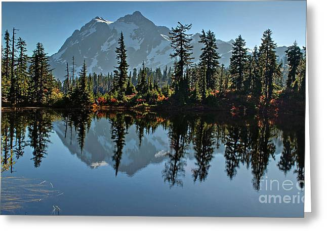 Greeting Card featuring the photograph Picture Lake - Heather Meadows Landscape In Autumn Art Prints by Valerie Garner