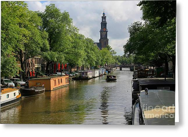 Picturesque Amsterdam Greeting Card by Sophie Vigneault