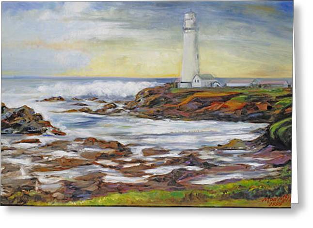 Pidgeon Point Lighthouse Greeting Card by Max Mckenzie