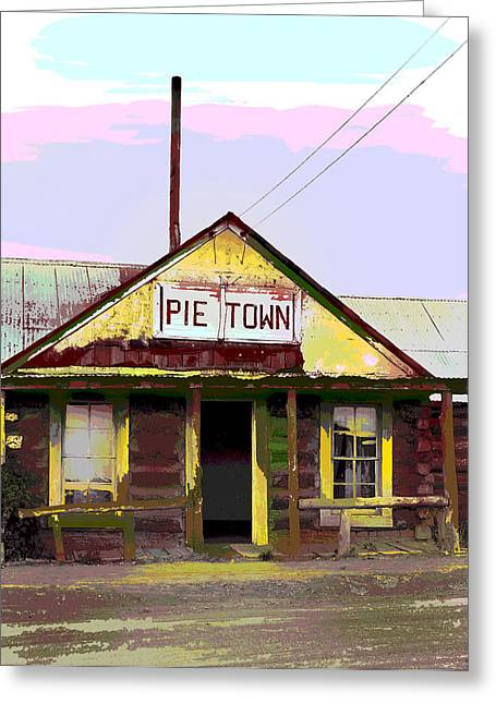 Pie Town Greeting Card by Charles Shoup