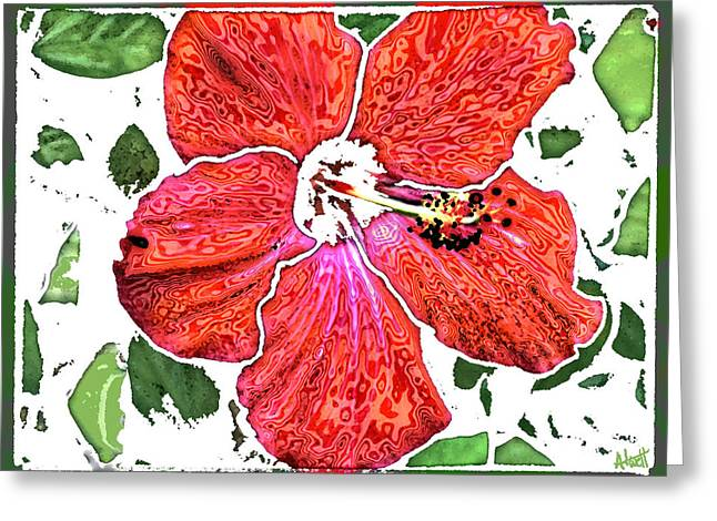 Pieces Greeting Card by Marilyn Atwell