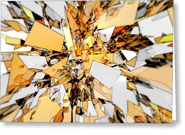 Greeting Card featuring the digital art Pieces Of Gold by Phil Perkins