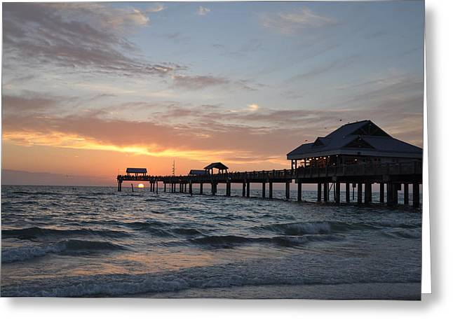 Pier 60 Clearwater Beach Florida Greeting Card by Bill Cannon