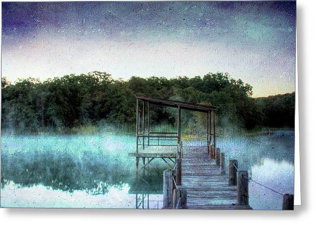 Pier In The Mist Greeting Card