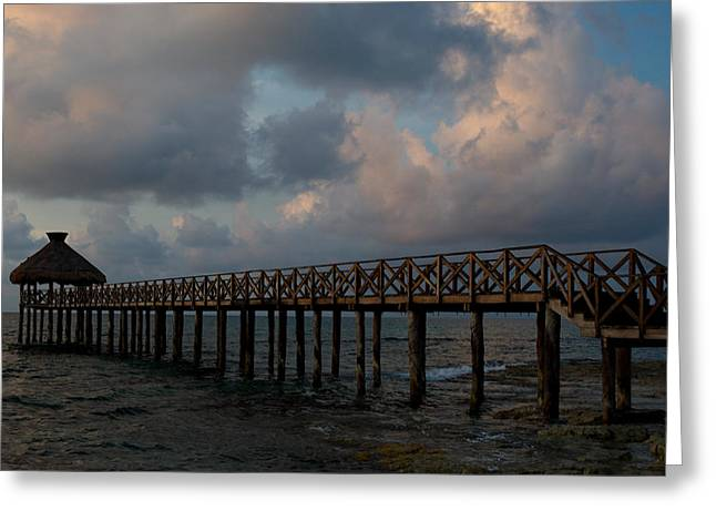 Pier Into Dawn Greeting Card