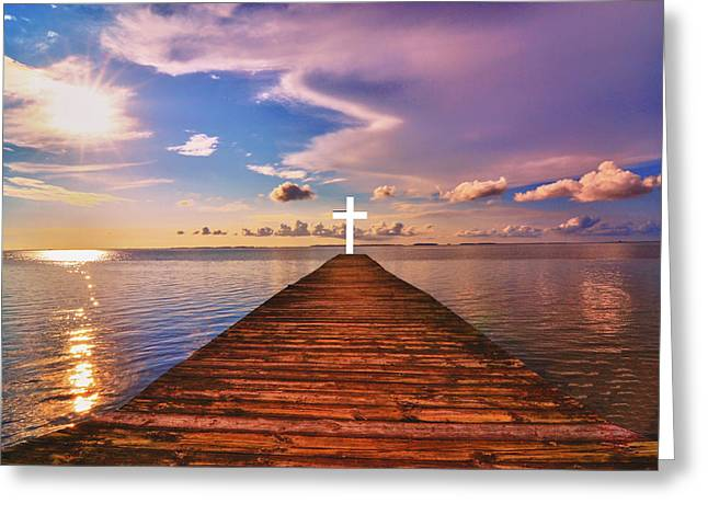 Pier Into Heaven Greeting Card