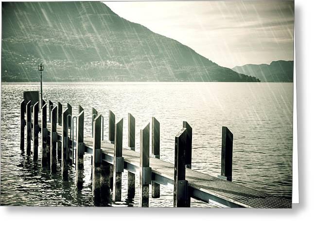 Pier Greeting Card by Joana Kruse