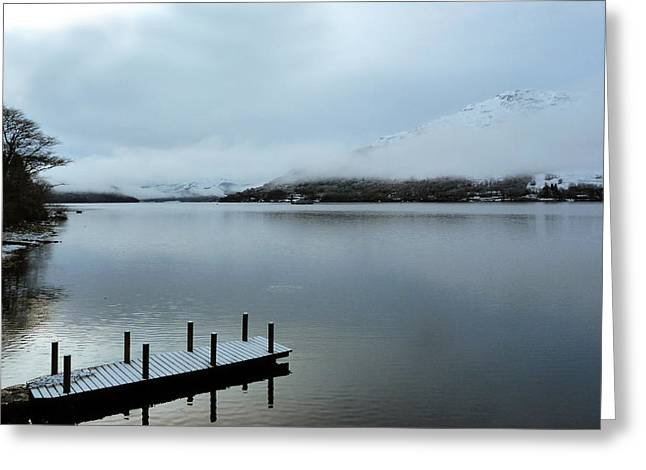 Greeting Card featuring the photograph Pier On The Loch by Lynn Bolt