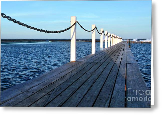 Pier To The Ocean Greeting Card by Kaye Menner