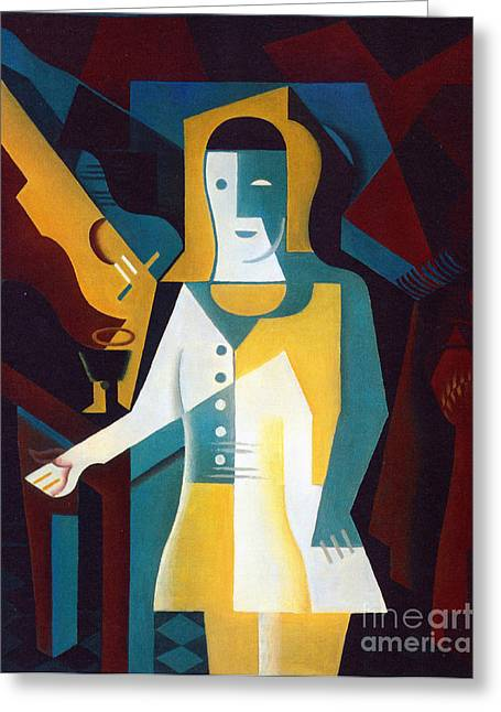 Pierrot Greeting Card by Pg Reproductions