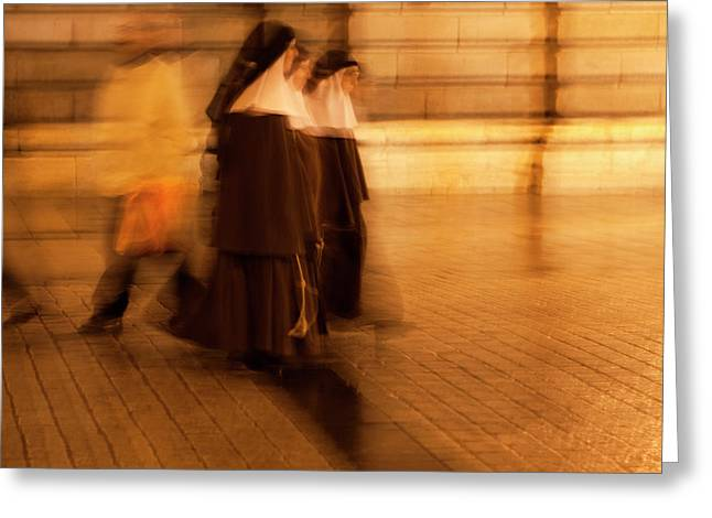Piety In Motion Greeting Card