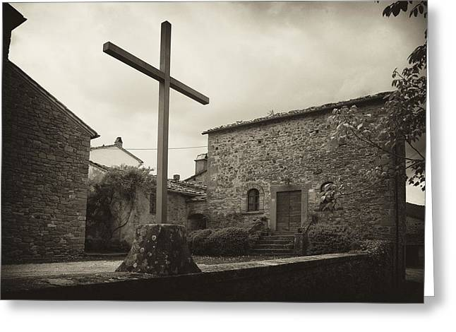Greeting Card featuring the photograph Pieve Di Santa Maria Alla Sovarra by Hugh Smith