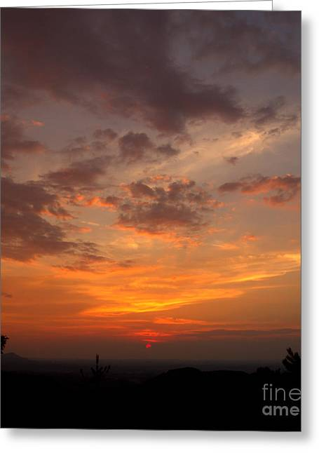 Pigeon Forge Sunset Greeting Card by Ursula Lawrence