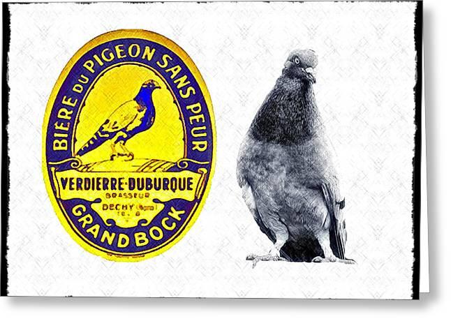 Pigeon Grand Bock Greeting Card