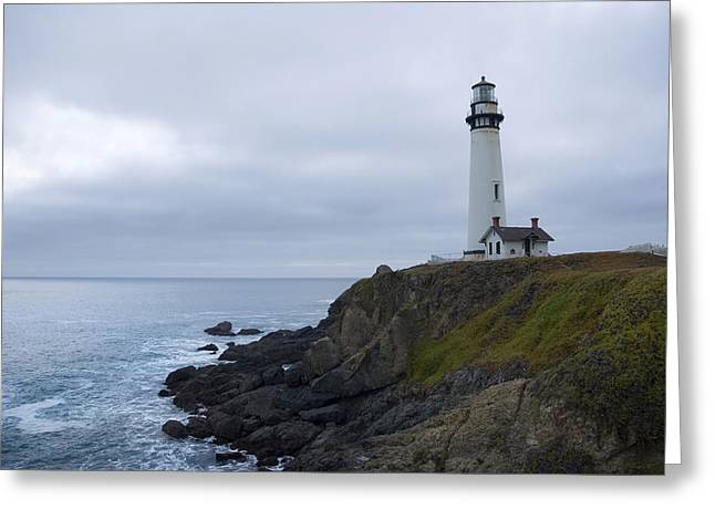 Greeting Card featuring the photograph Pigeon Point Lighthouse by Mike Irwin