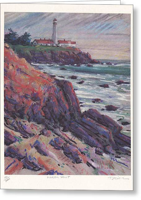 Pigeon Point Print Greeting Card by Donald Maier