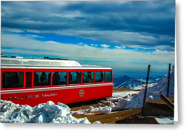 Greeting Card featuring the photograph Pikes Peak Railway by Shannon Harrington