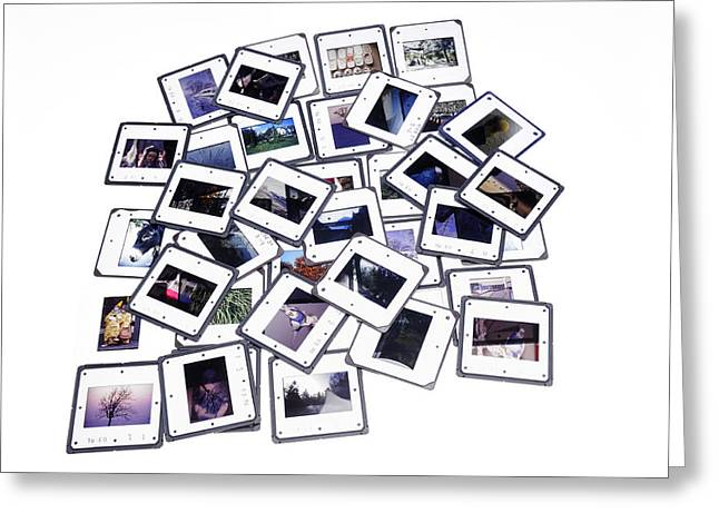 Pile Of Color Slides Greeting Card by Matthias Hauser