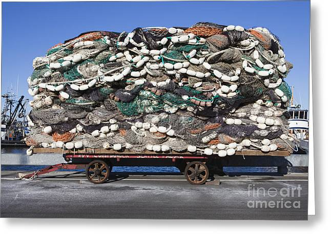 Pile Of Commercial Fishing Nets Greeting Card by Paul Edmondson