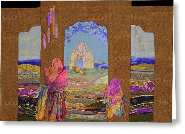 Pilgrimage Greeting Card by Roberta Baker