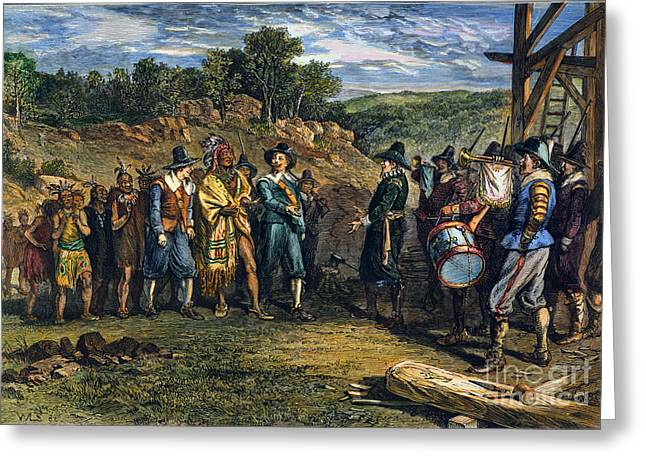 Pilgrims: Massasoit Greeting Card by Granger