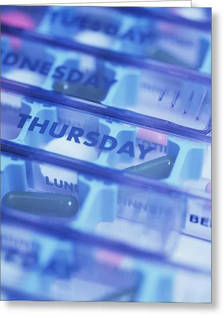Pill Box Greeting Card by Cristina Pedrazzini