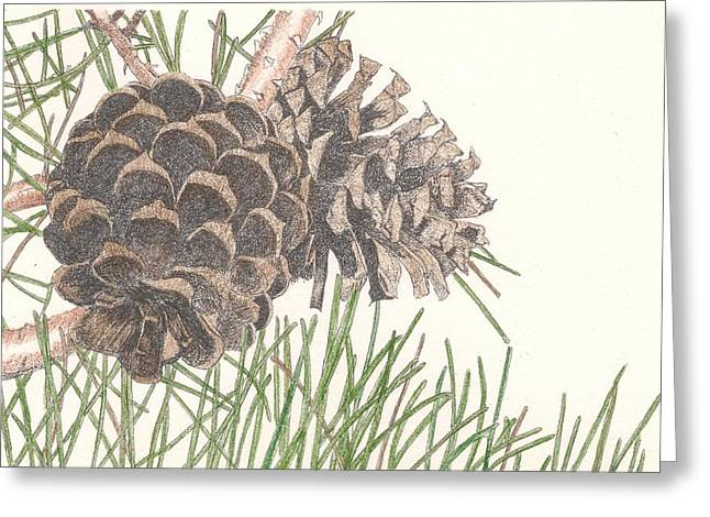 Pine Cone Greeting Card