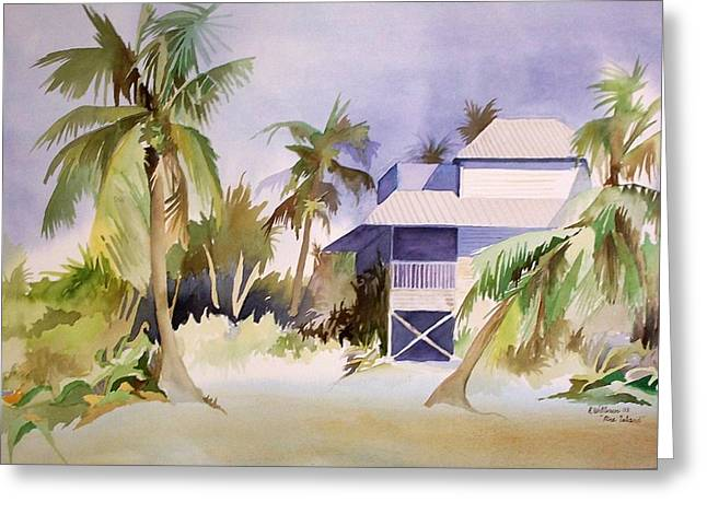 Greeting Card featuring the painting Pine Island Fl. by Richard Willows