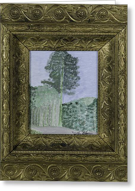 Pine Trees Greeting Card by Glenn Olson
