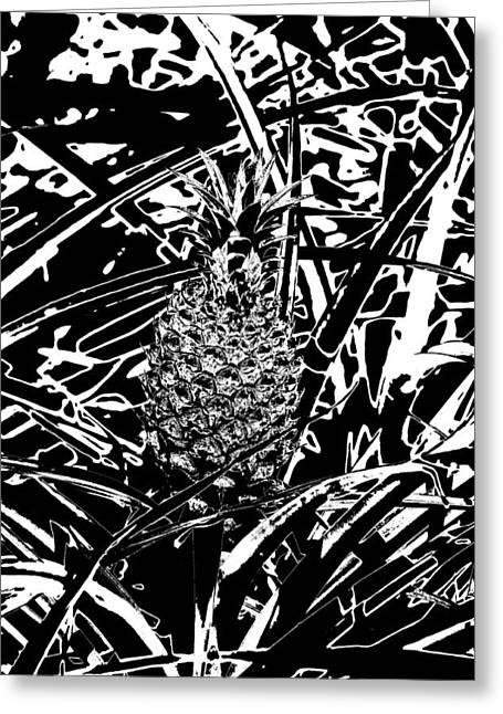 Pineapple  Greeting Card by Elizabeth  Doran