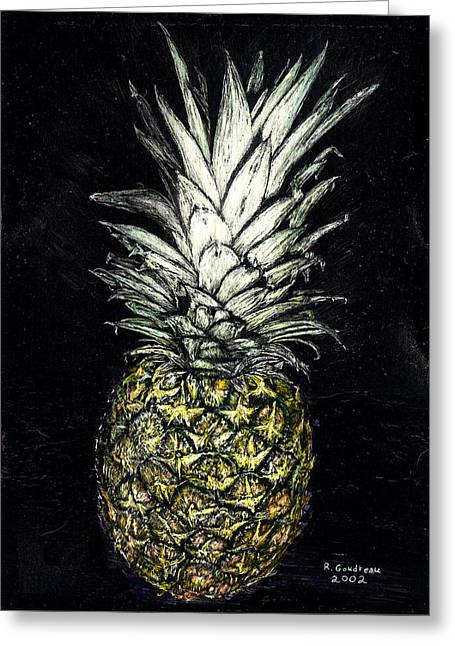 Pineapple Greeting Card by Robert Goudreau