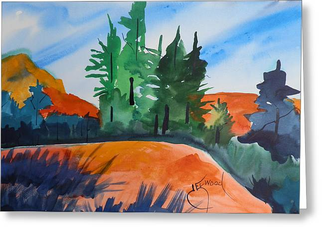 Pines Atop Red Mountain Greeting Card