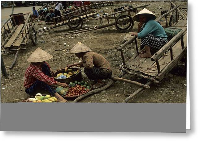 Pingxiang Street Scene, Hand Carts Greeting Card by Raymond Gehman