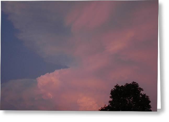 Pink And Blue Sky Greeting Card by LeeAnn McLaneGoetz McLaneGoetzStudioLLCcom