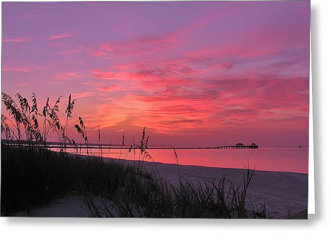 Pink And Purple Dawn Greeting Card by Brian Wright