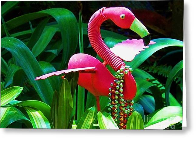 Pink Bling Greeting Card by Debbi Granruth